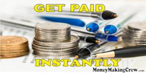 Write and get paid instantly coin and pen