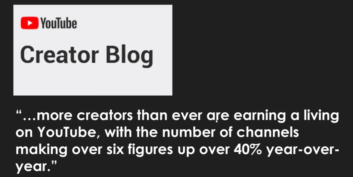 How much money can you make from youtube from creator blog