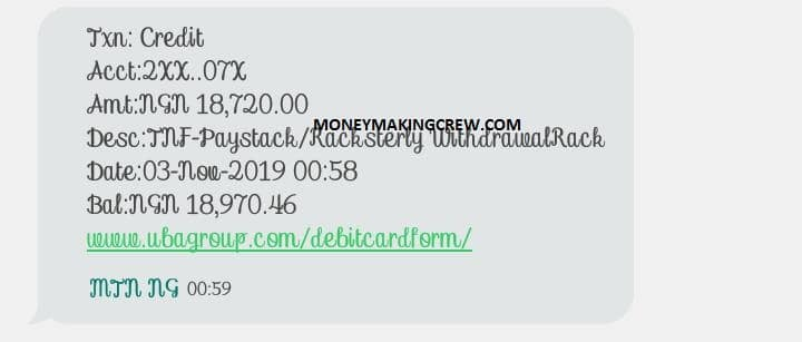 racksterly income review payment proof