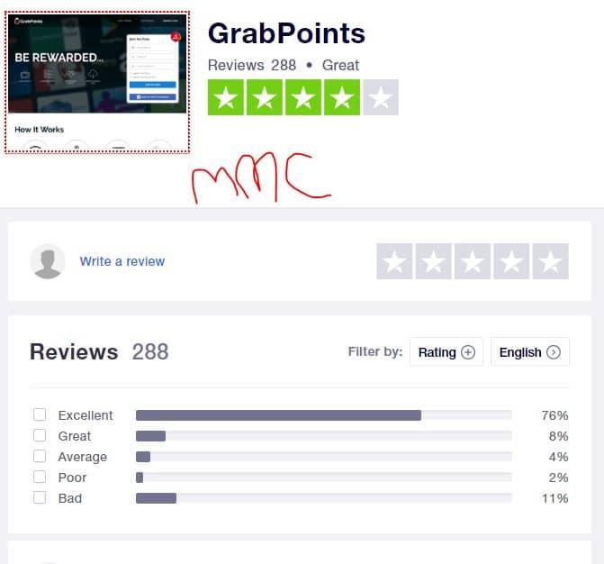 grabpoints review trustpilot
