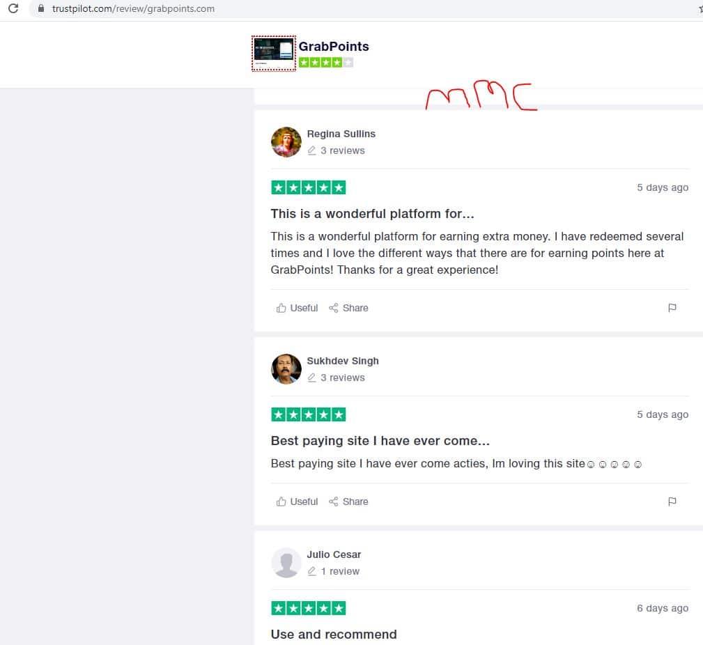 grabpoints review trustpilot reviews
