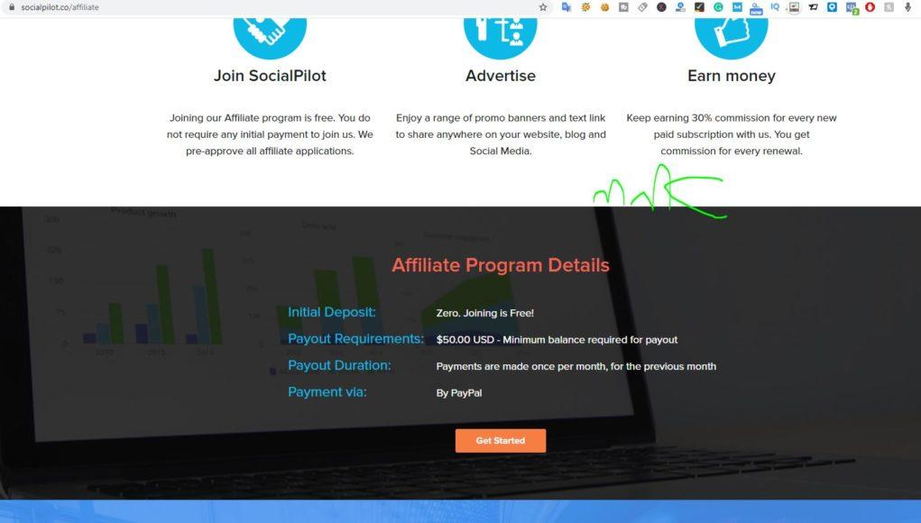 socialpilot affiliate earn passive income ideas