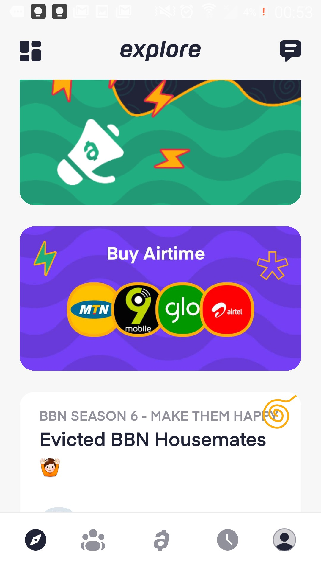 Buy Airtime with Abeg App