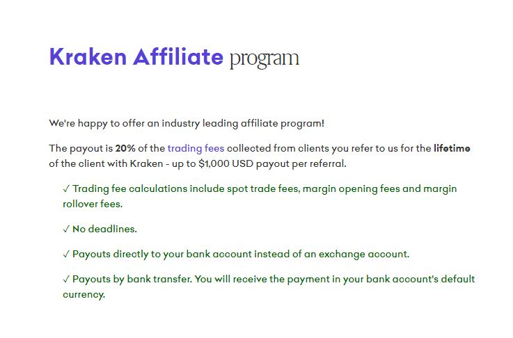 How to make an extra $1000 a month with kraken affifiates