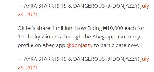 Donjazzy giveaway
